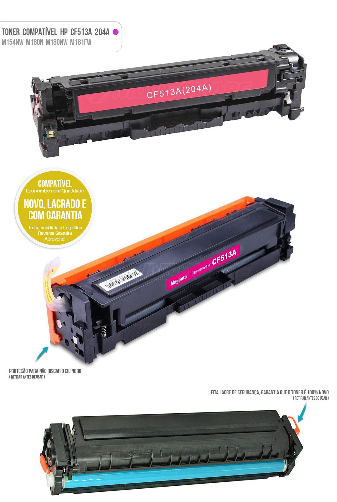 Toner para impressora Laser M154 M154A M154NW M180 M180N M180NW M181 M181FW Tonner Magenta