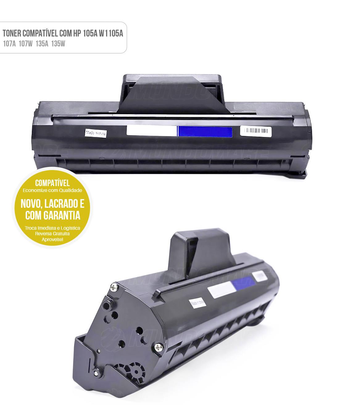 Toner Compatível modelo 105A W1105A para Impressora HP 107a 107w MFP 135a MFP 135w MFP 137fnw MFP 138fnw Tonner