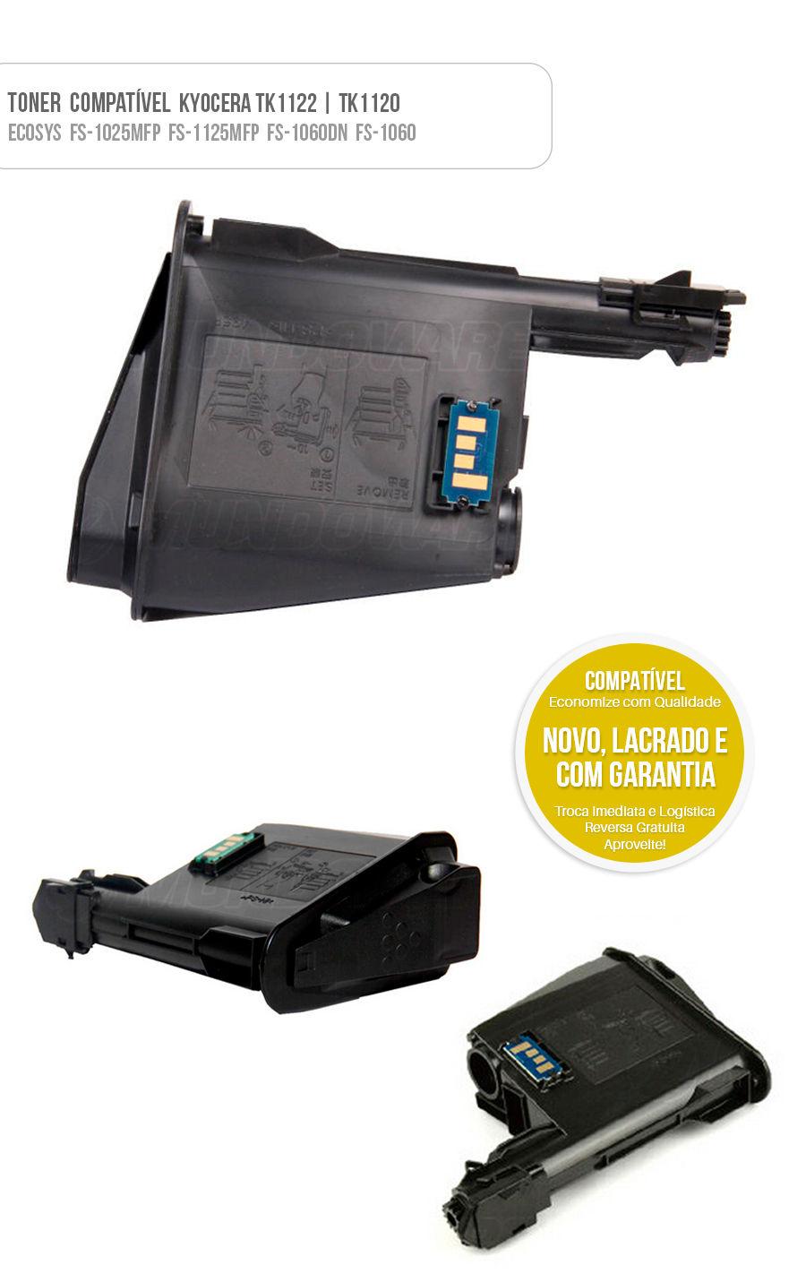 Tonner Compativel kyocera tk1122 tk-1122 tk1120 Mita FS1025 FS1060 FS1125 FS1160 FS-1025 FS-1060 FS-1125 FS-1160