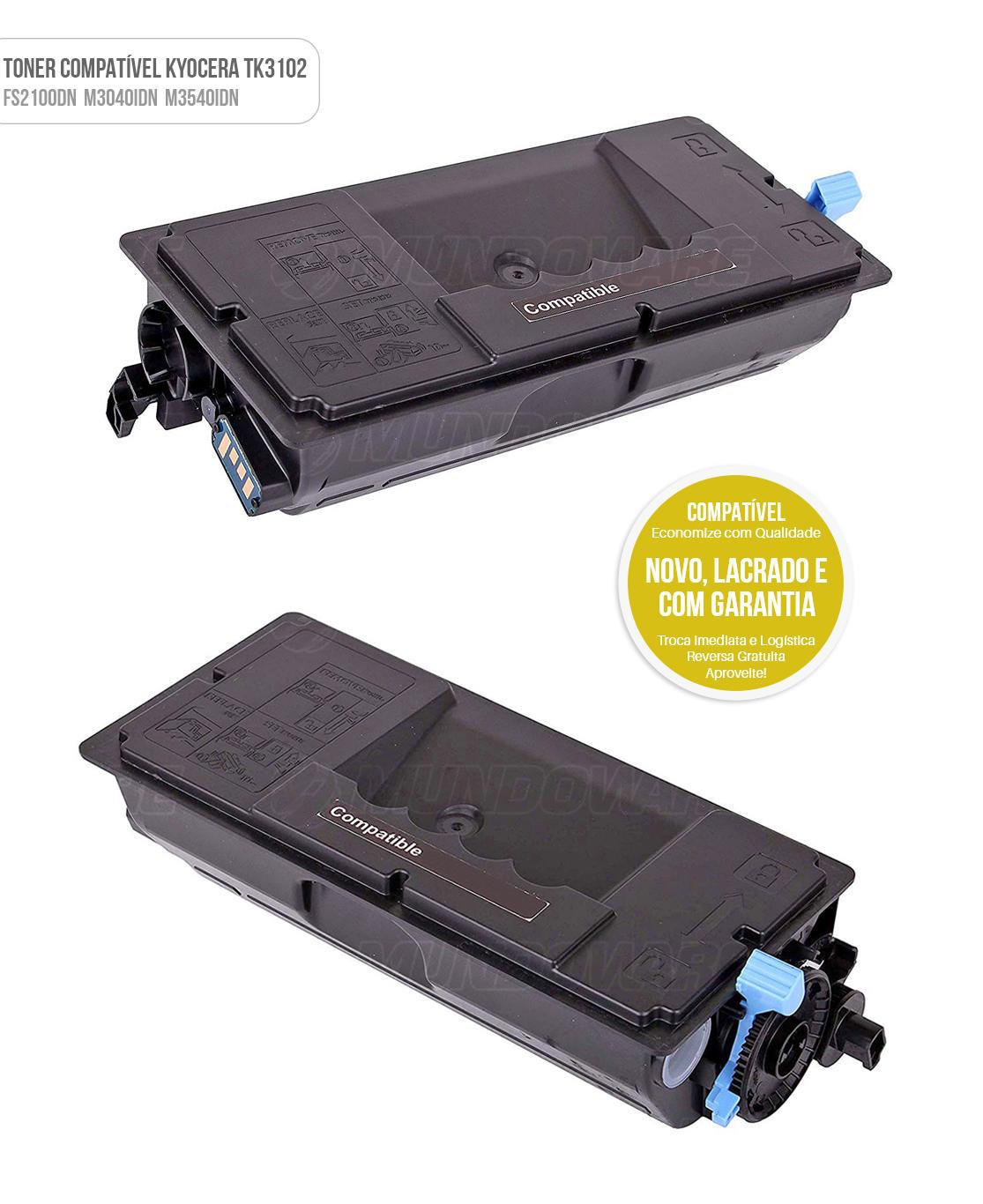 Toner Compatível TK3102 TK-3102 para Kyocera Tonner