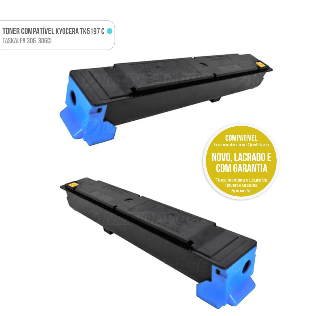 Toner Ciano Compatível para impressora Kyocera TASKalfa 306ci 306