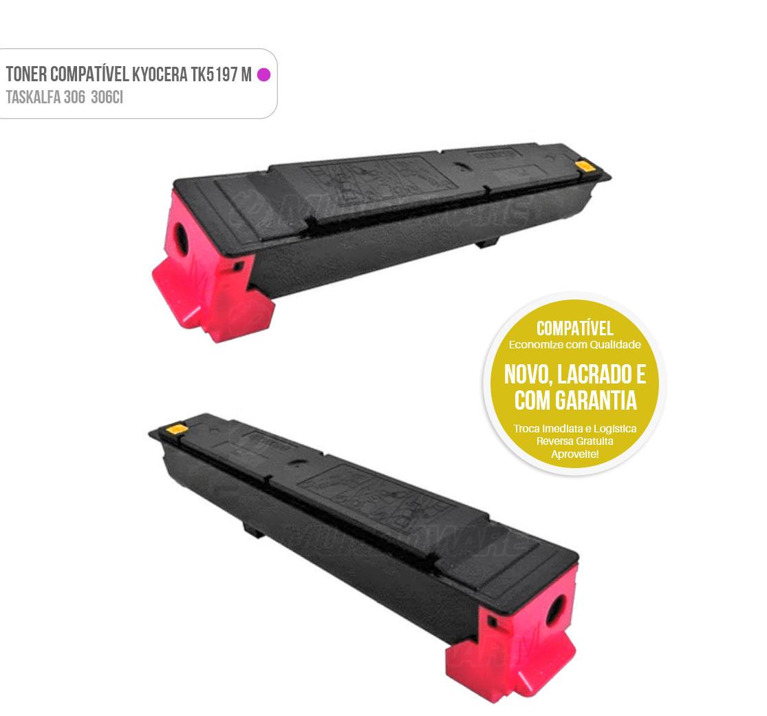 Toner Magenta Compatível para impressora Kyocera TASKalfa 306ci 306