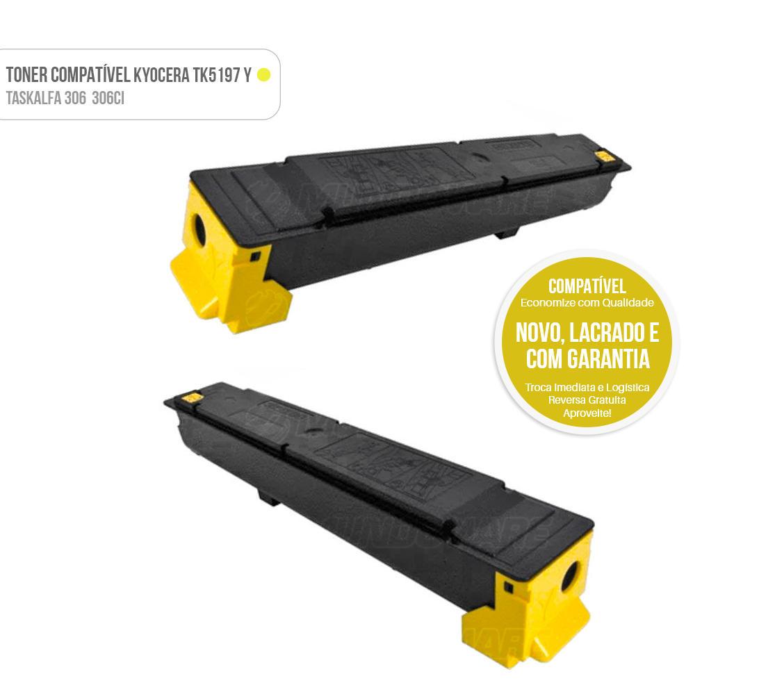 Toner Amarelo Compatível para impressora Kyocera TASKalfa 306ci 306