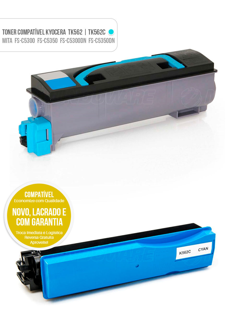 Toner Kyocera Mita FS-C5300 FS-C5350 FS-C5300DN FS-C5350DN FSC5300 FSC5350 FSC5300DN FSC5350DN FS C 5300 FS C 5350 FS C 5300DN FS C 5350DN Tonner Color Ciano Azul