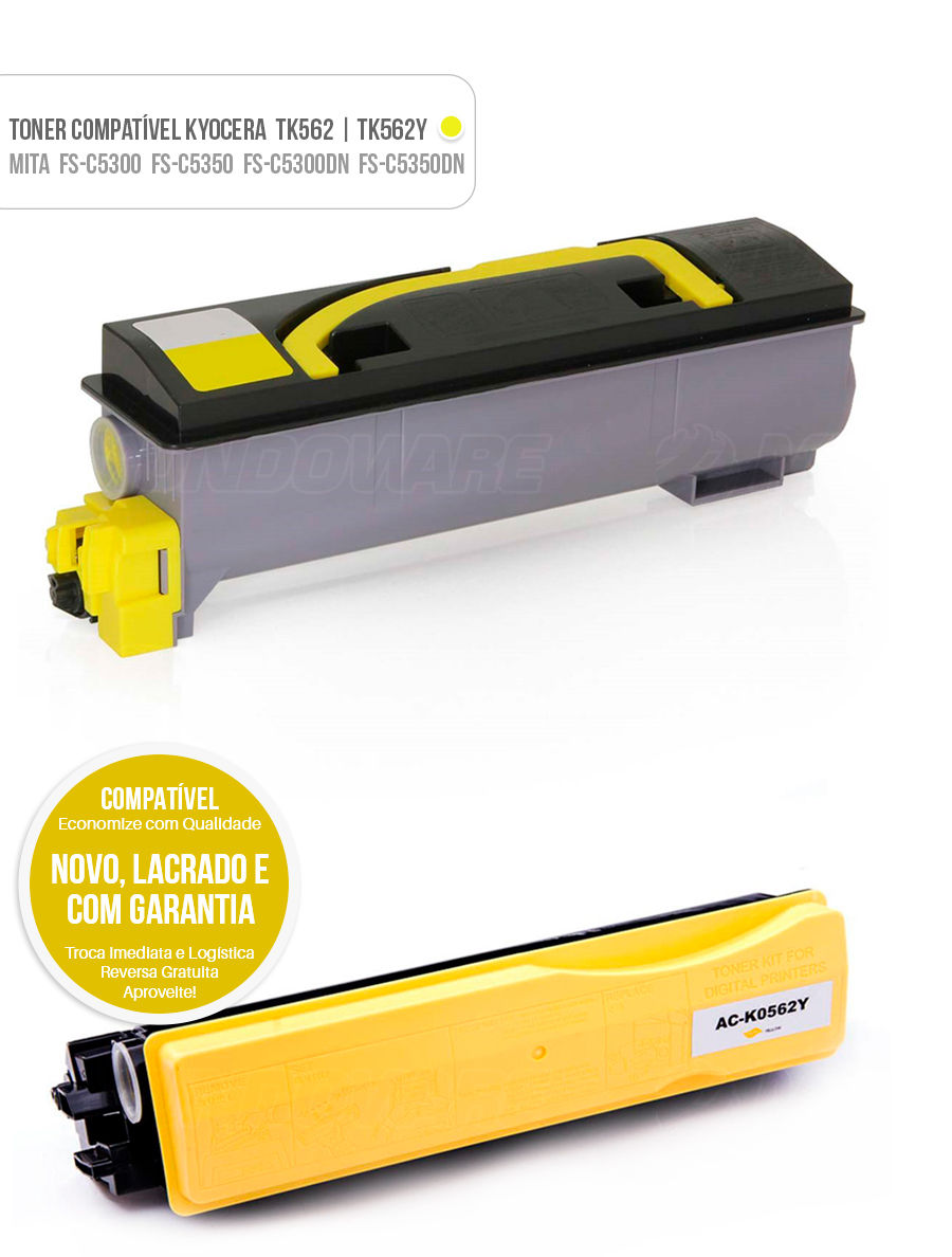 Toner Kyocera Mita FS-C5300 FS-C5350 FS-C5300DN FS-C5350DN FSC5300 FSC5350 FSC5300DN FSC5350DN FS C 5300 FS C 5350 FS C 5300DN FS C 5350DN Tonner Color Amarelo Yellow
