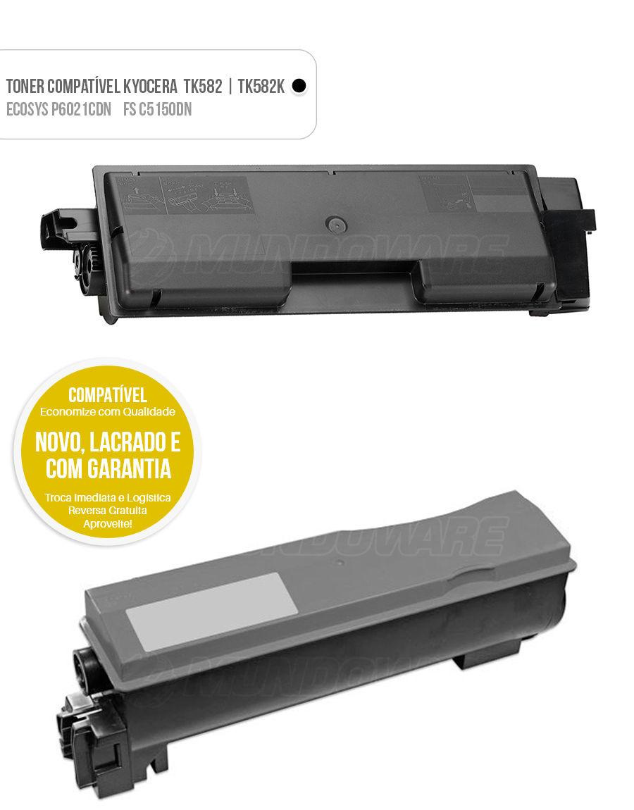 Toner Kyocera FS-C5150DN FS-C5150 FSC5150DN FSC5150 5150DN Ecosys P6021CDN P6021 P-6021CDN P-6021 Tonner Color Preto
