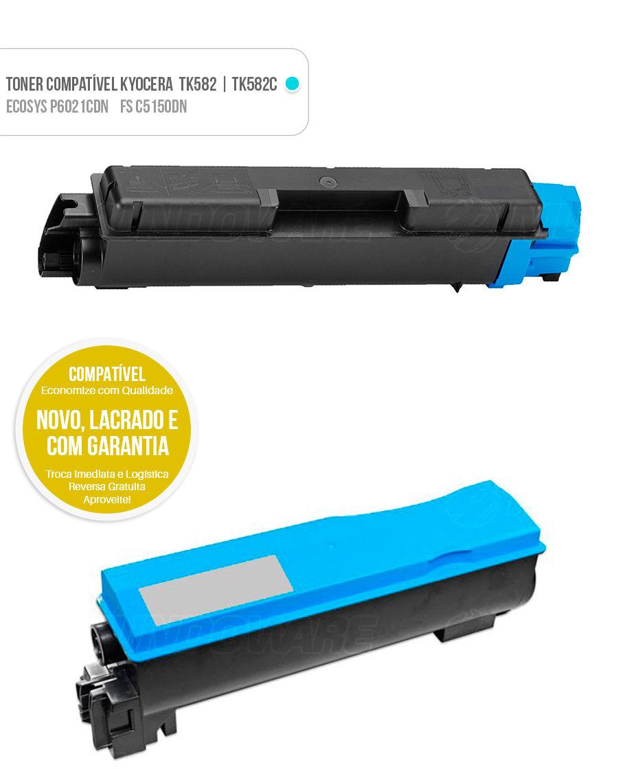 Toner Kyocera FS-C5150DN FS-C5150 FSC5150DN FSC5150 5150DN Ecosys P6021CDN P6021 P-6021CDN P-6021 Tonner Color Ciano Azul