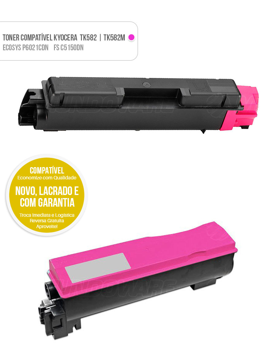 toner compat vel magenta tk582 para kyocera fsc5150 p6021. Black Bedroom Furniture Sets. Home Design Ideas