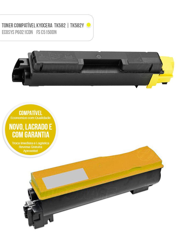 Toner Kyocera FS-C5150DN FS-C5150 FSC5150DN FSC5150 5150DN Ecosys P6021CDN P6021 P-6021CDN P-6021 Tonner Color Amarelo Yellow