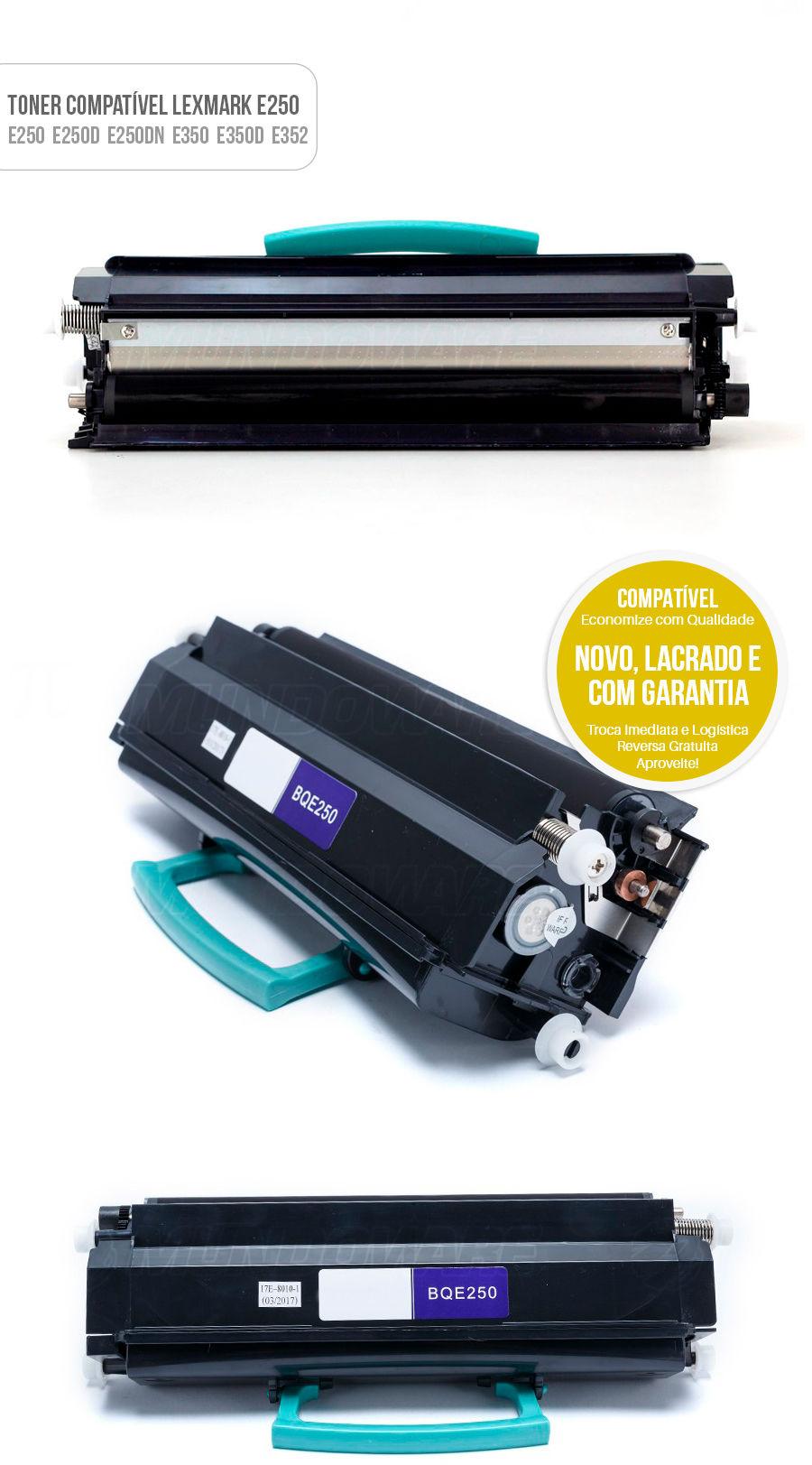 Toner Compatível com Lexmark E250 E350 E352 E450 E450N E450DN E250D E250DN E250 Tonner