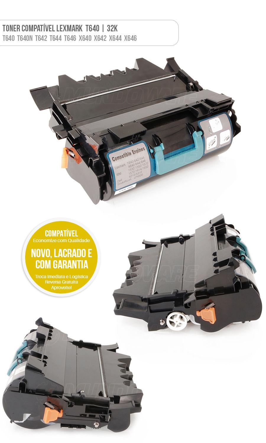 Lexmark Toner T640 T642 T644 T646 X640 X642 X644 X646 Tonner
