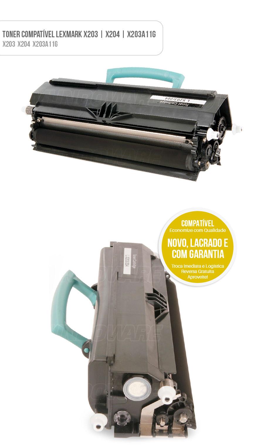 Tonner Compatível Lexmark X203 X204 X203A11G