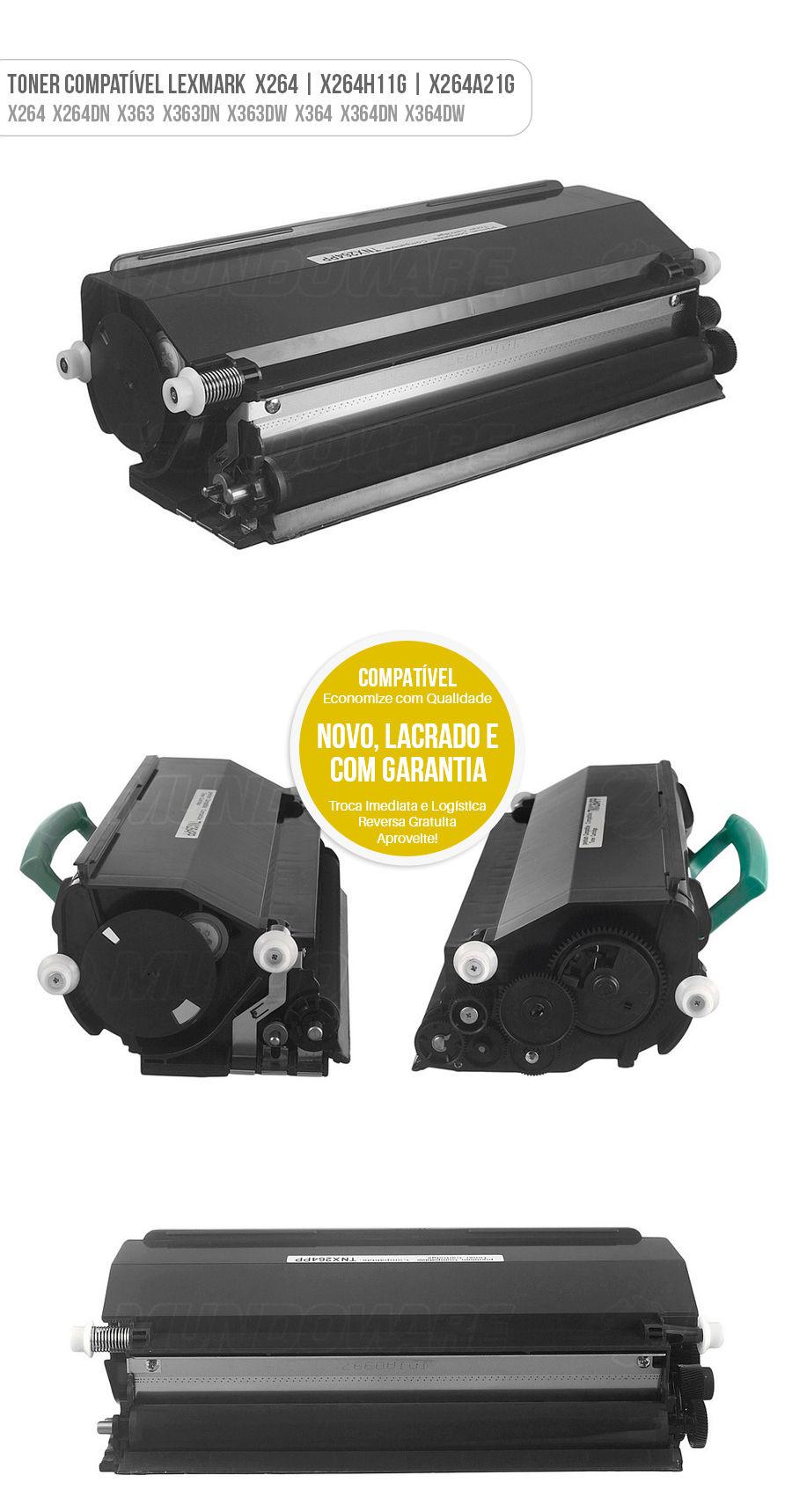 Lexmark Toner X264 X264DN X363 X363DN X363DW X364 X364DN X364DW 264DN 363DN 363DW 364DN 364DW Tonner