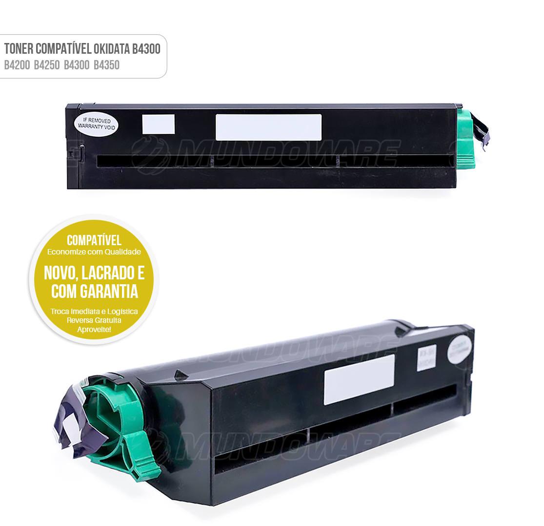 Toner Compatível Okidata B4300 para Impressora B 4200 B 4250 B 4300 B 4350 Tonner
