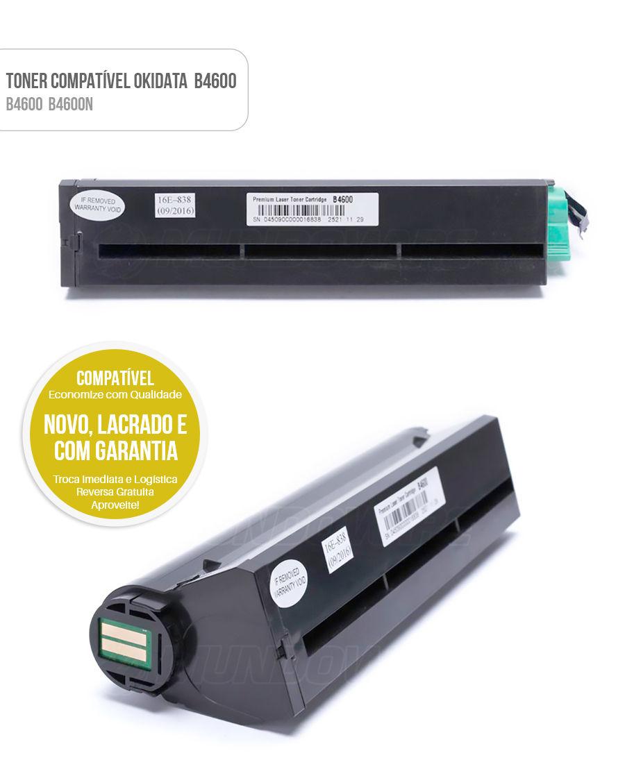 Toner Compativel B4600 para impressora Okidata B4600 B4600N