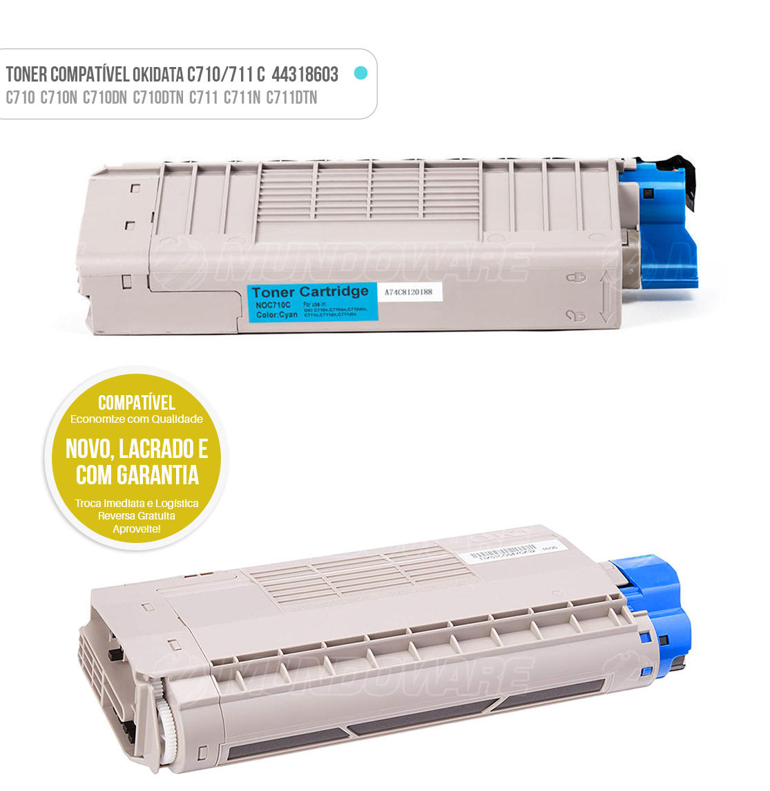 Toner Ciano Compatível para impressora Okidata C710 C710N C710DN C710DTN C711 C711N C711DTN Tonner