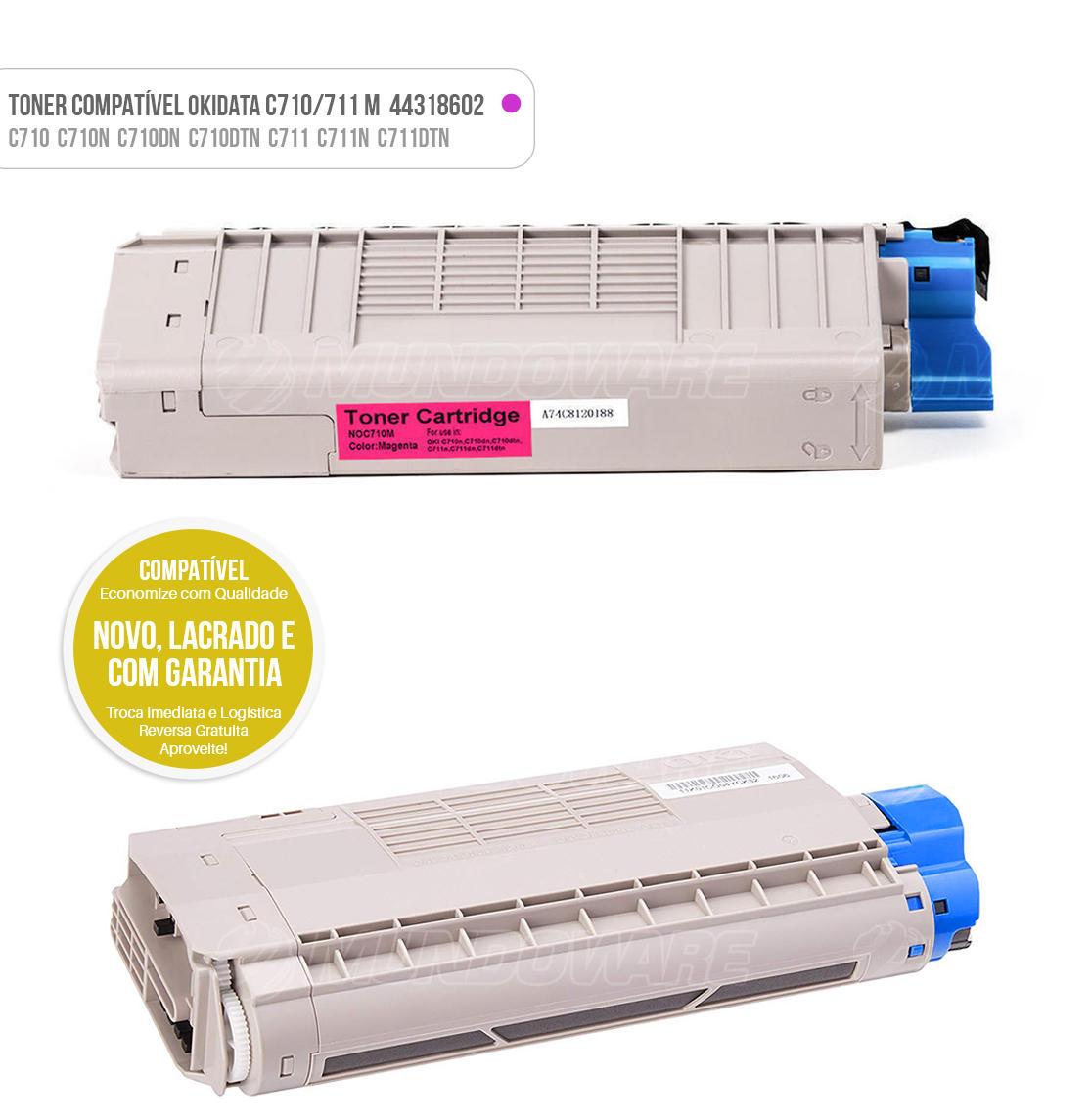 Toner Magenta Compatível para impressora Okidata C710 C710N C710DN C710DTN C711 C711N C711DTN Tonner
