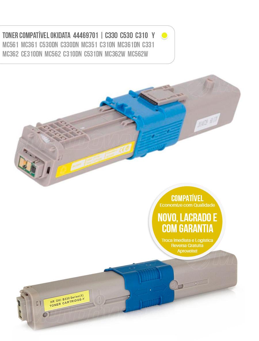 tonner compatível Okidata C530 C330 C310 Toner Oki Amarelo Yellow