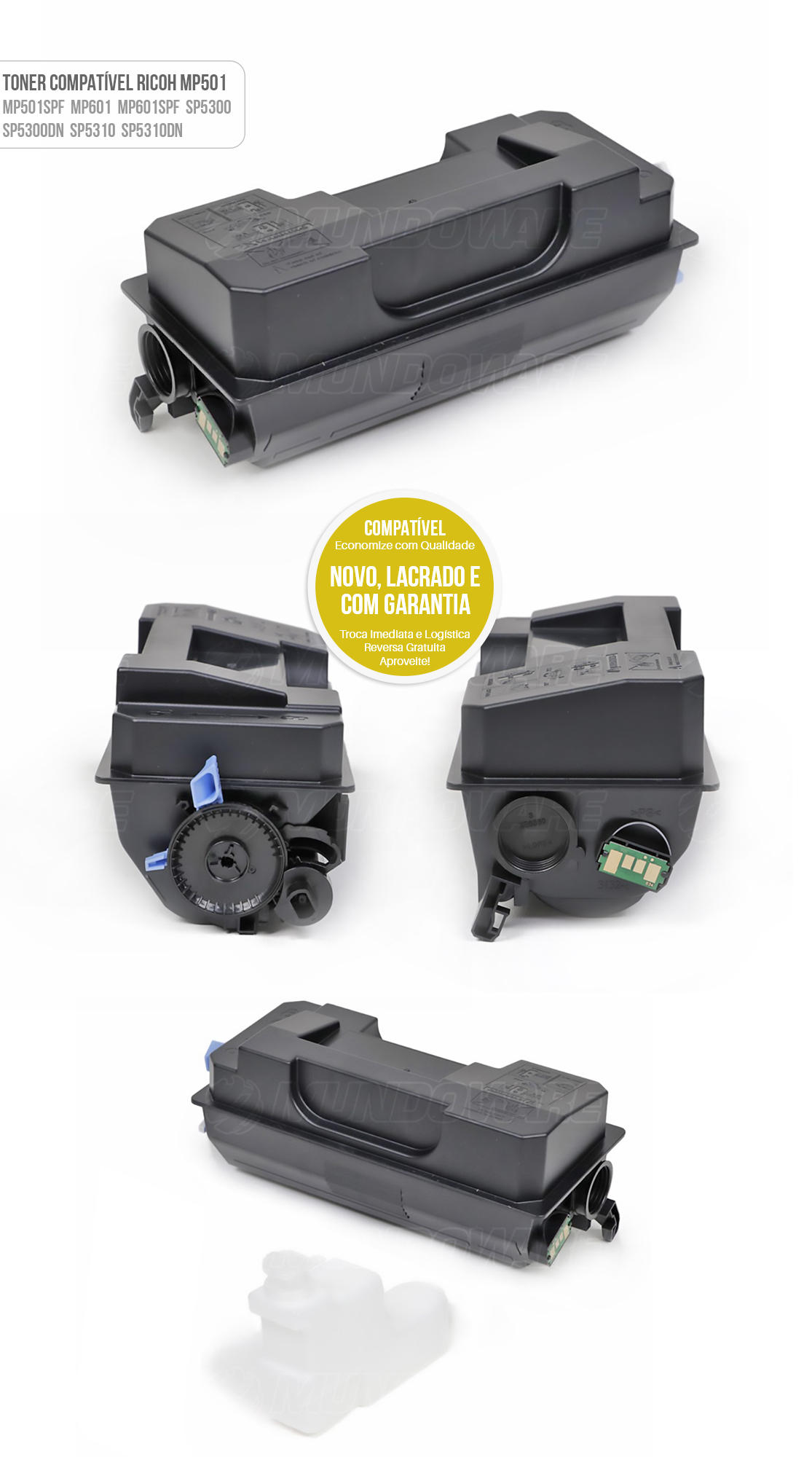 Toner Compatível MP501 para Impressora Ricoh MP501SPF MP601 MP601SPF SP5300 SP5300DN SP5310 SP5310DN Tonner