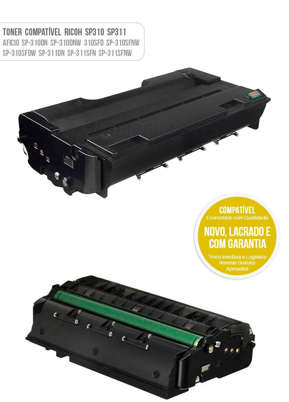 Tonner Compativel Ricoh Aficio para 407578 SP310 Toner