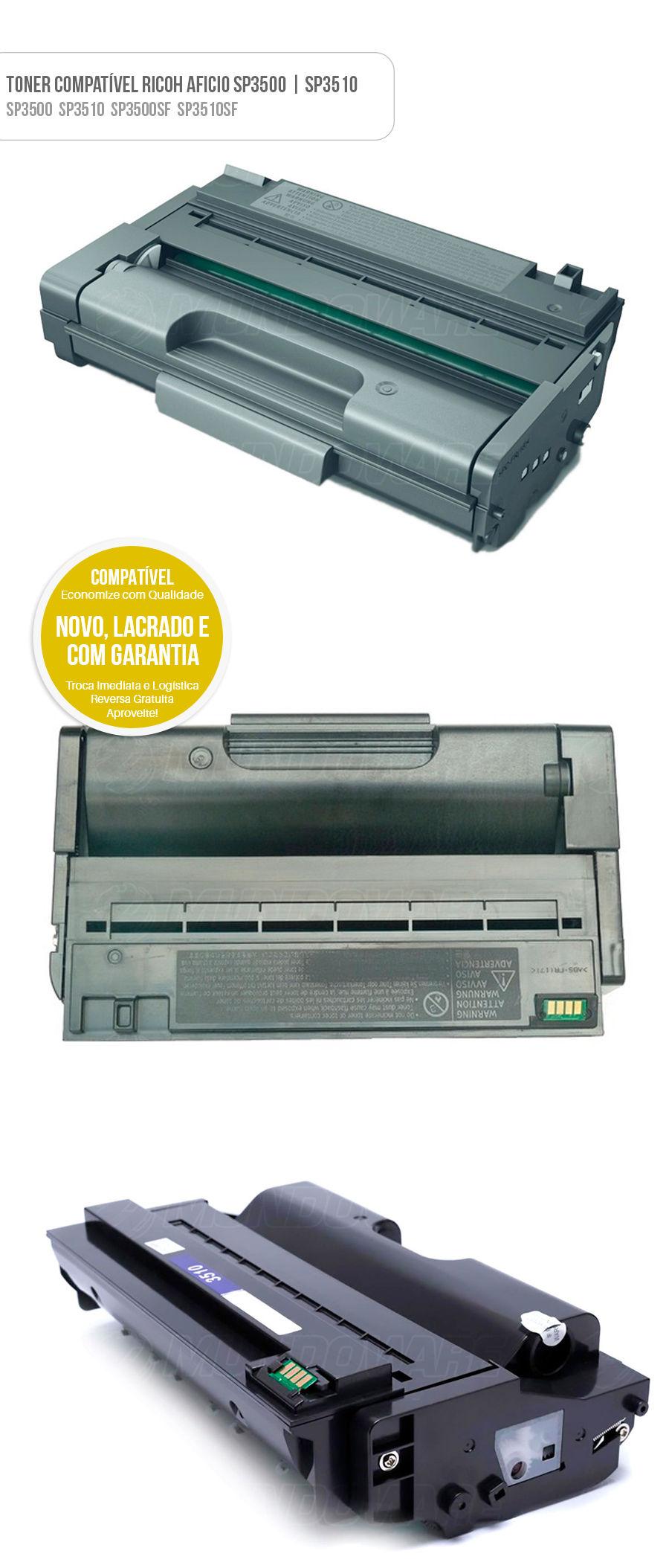 Ricoh Aficio Toner SP3500 406989 SP3510 SP3410 SP-3500 406989 SP-3510 SP-3410 Tonner