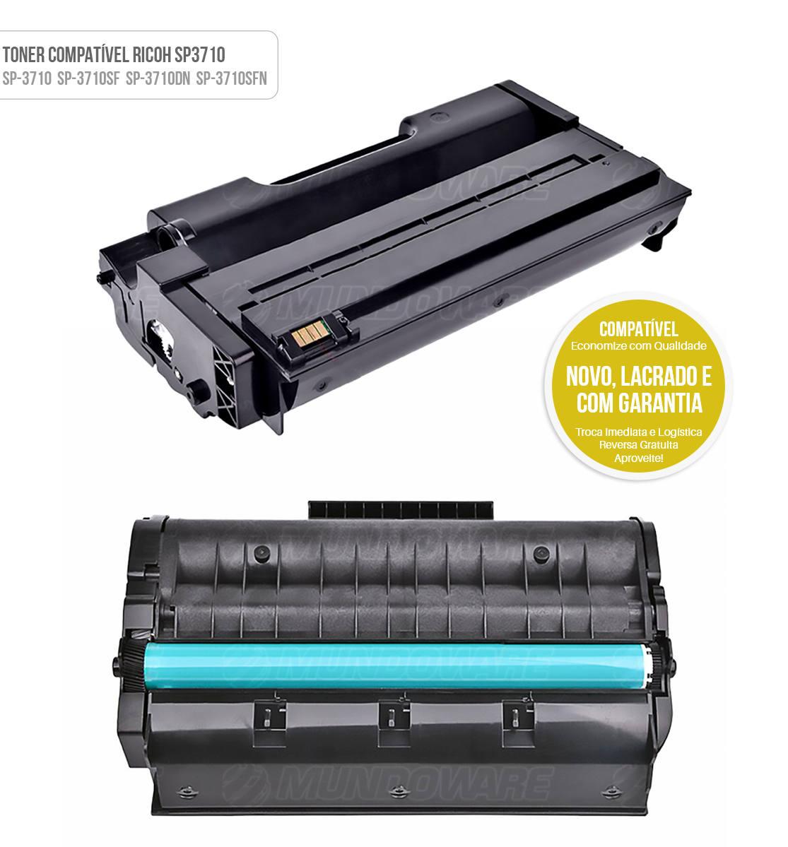 Toner Compatível SP3710 para Impressora Ricoh SP-3710DN SP-3710SFN SP-3710DN SP-3710SFN SP3710DN SP3710SFN SP3710DN SP3710SFN Tonner
