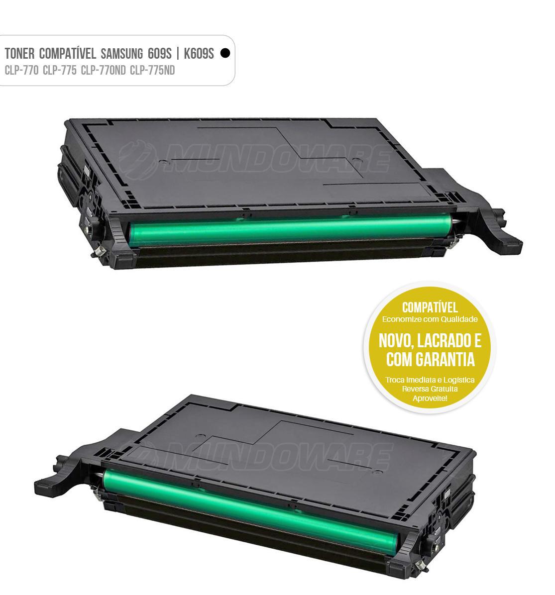 Toner Preto Compatível com CLT609 K609S 609S para impressora Samsung CLP-770 CLP-775 CLP-770ND CLP-775ND CLP770 CLP775 CLP770ND CLP775ND Tonner