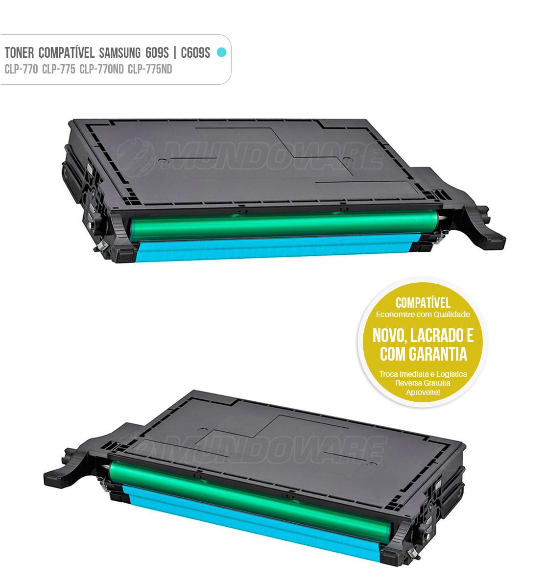 Toner Ciano Compatível com CLT609 C609S 609S para impressora Samsung CLP-770 CLP-775 CLP-770ND CLP-775ND CLP770 CLP775 CLP770ND CLP775ND Tonner