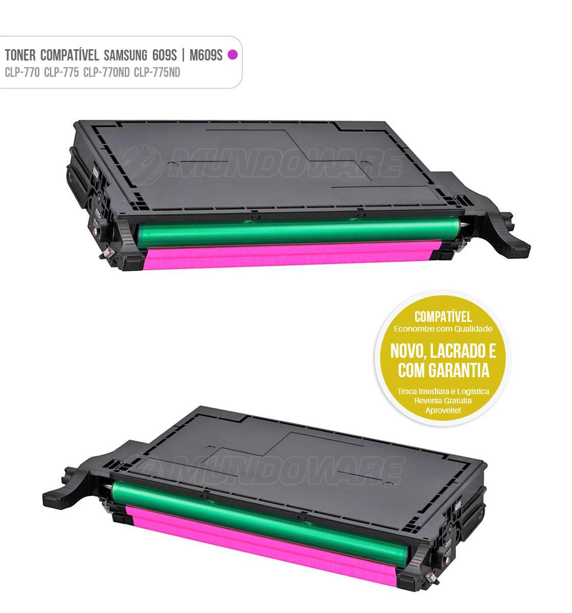 Toner Magenta Compatível com CLT609 M609S 609S para impressora Samsung CLP-770 CLP-775 CLP-770ND CLP-775ND CLP770 CLP775 CLP770ND CLP775ND Tonner