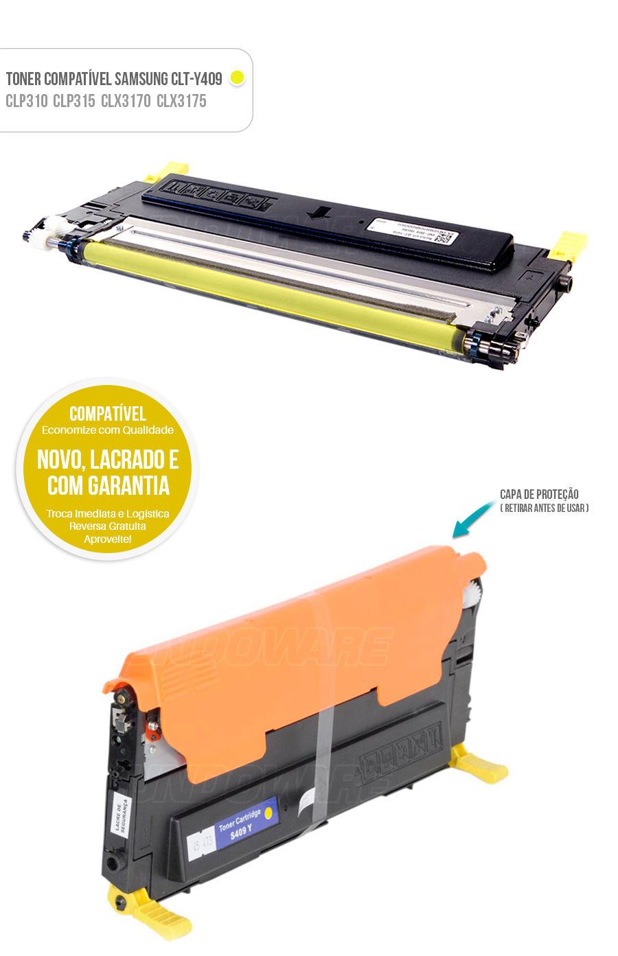 Toner compativel para impressora Samsung CLT-Y409S Y409S CLTY409S CLTY409 Y409 Amarelo Yellow