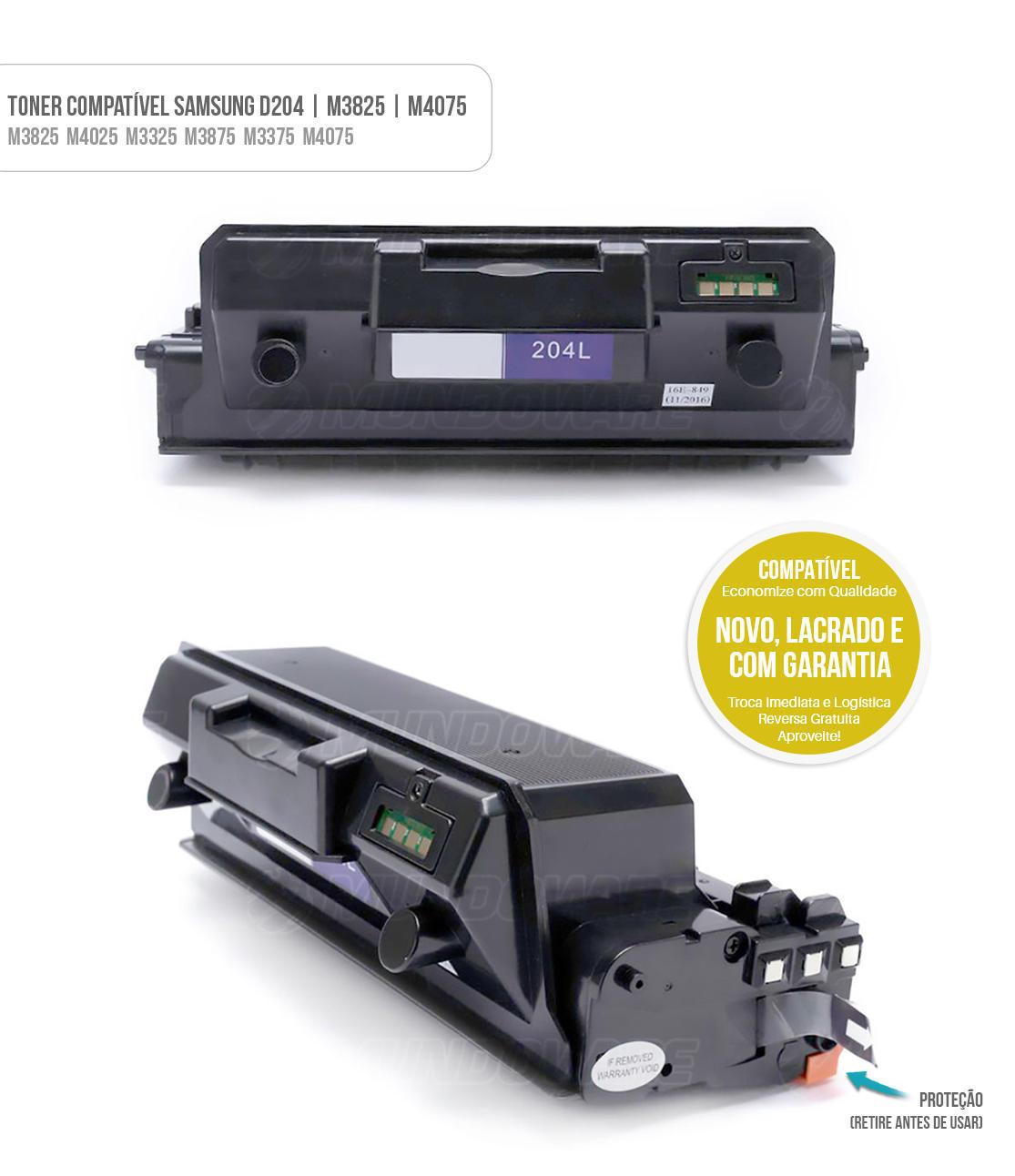 Toner Compativel D204 D204L para Samsung M3325 M3825 M4025 M3375 M3875 M4075