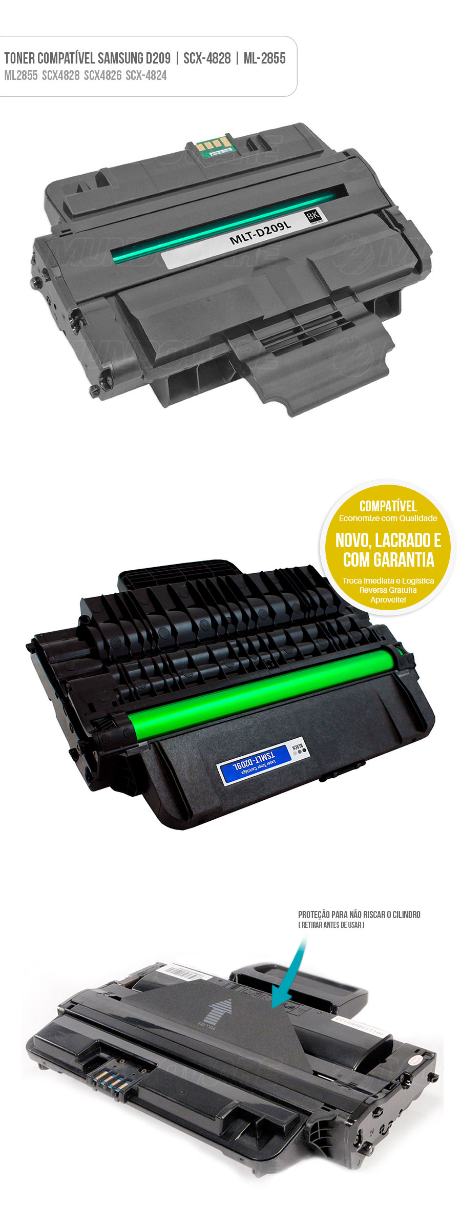 Samsung D209 SCX4828 MLT-D209L S209D5 209L Tonner