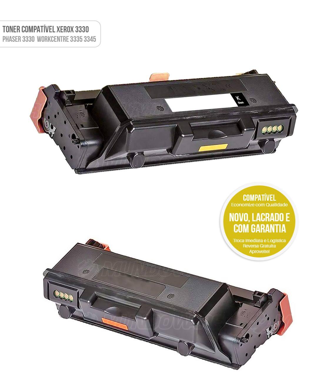 Toner Compatível modelo Phaser 3330 Workcentre 3335 3345 Preto Tonner
