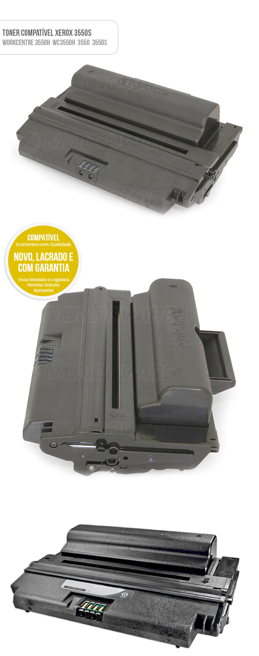 Toner Compatível Xerox 3550S 106R01528 106R01529 Tonner